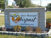 Venice Municipal Airport Sign
