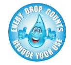 Image of every drops counts--save water logo