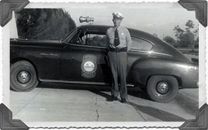 John Shockey and first police cruiser