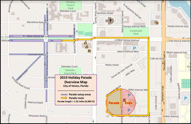Holiday Parade Route_2019