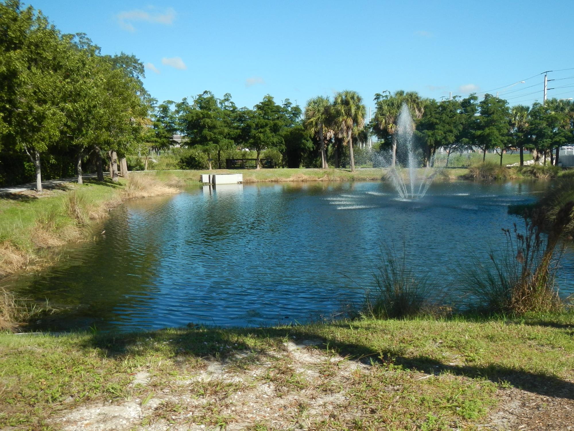 picture of a retention pond