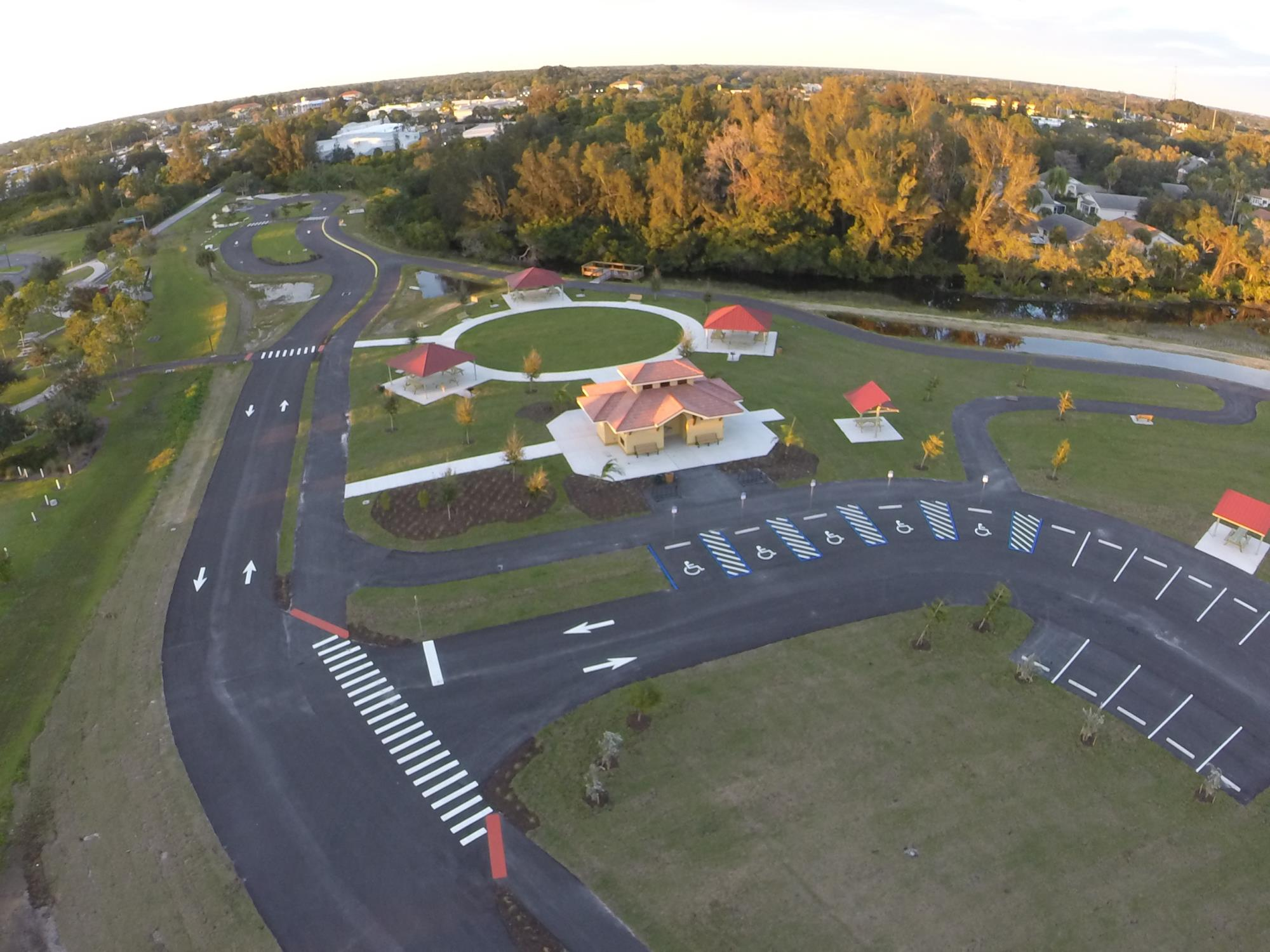 Overhead view of Legacy Park